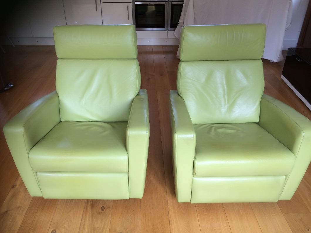 Sancal leather reclining chairs