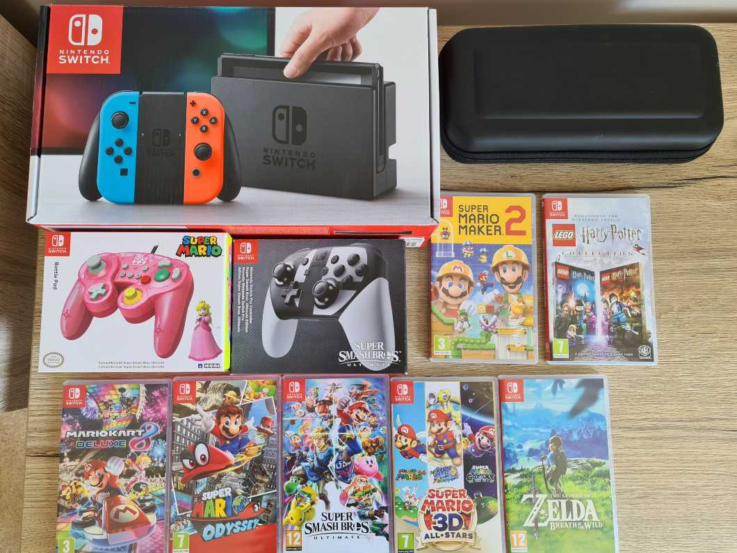 Nintendo Switch Console and Games Bundle