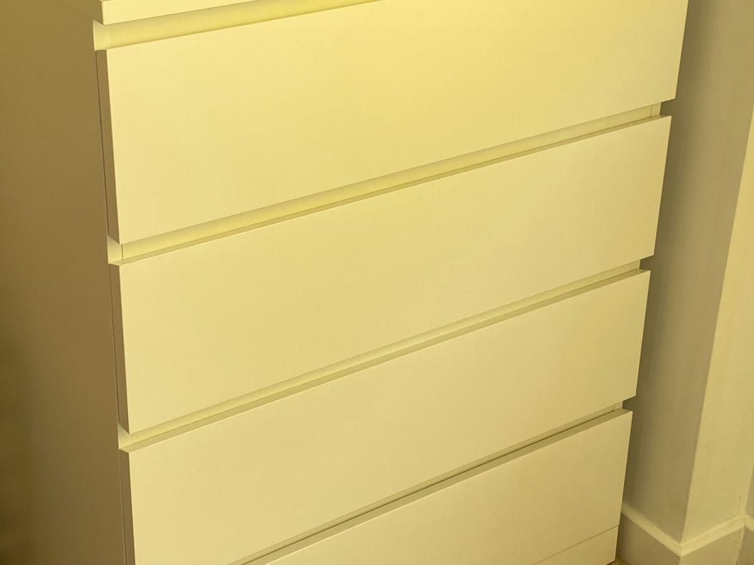 Four Draw Drawer White
