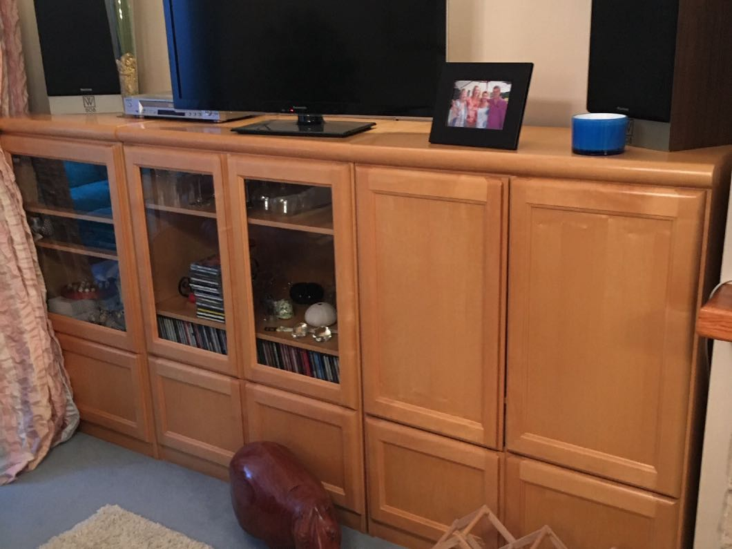 Wall unit including bar unit with matching drawer set/sideboard