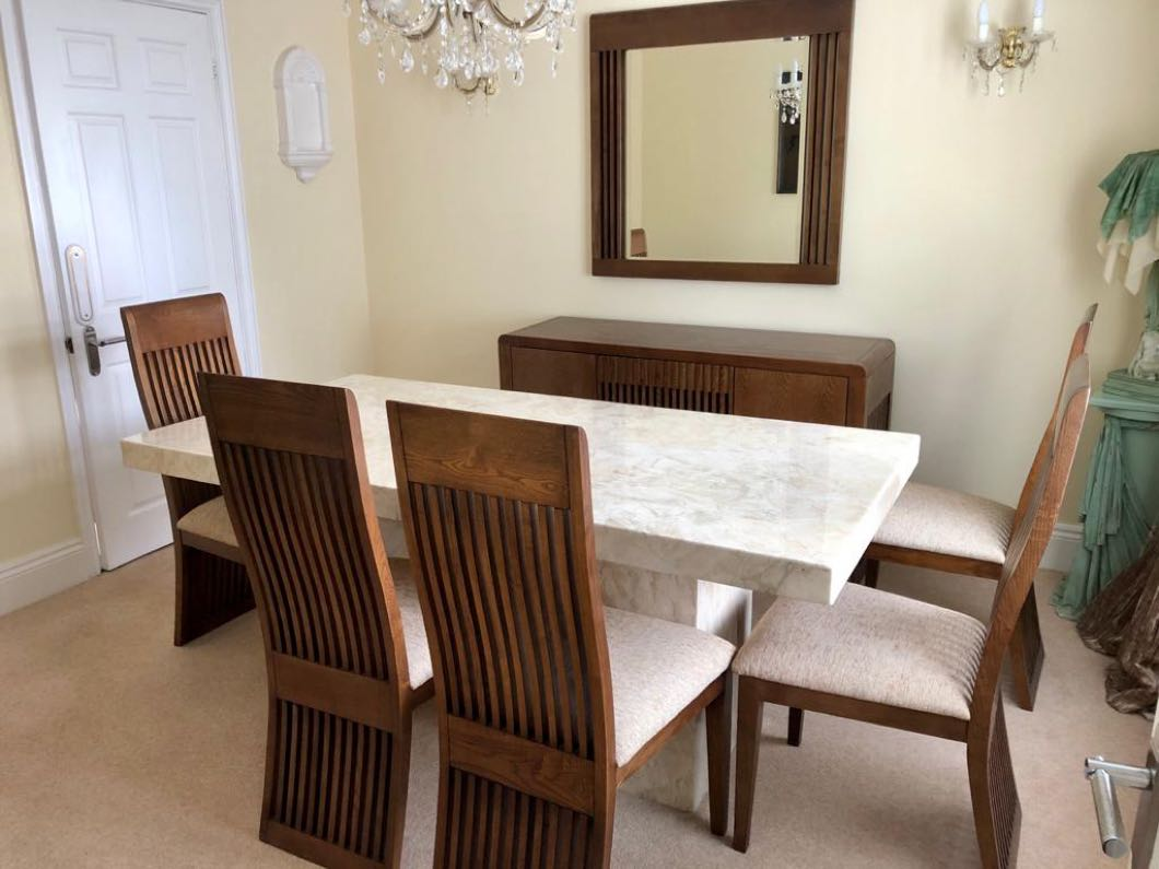 Dining room suite as new