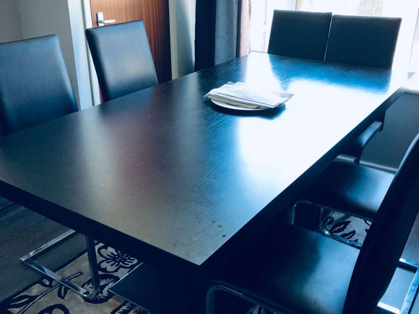 Sturdy black table from scope