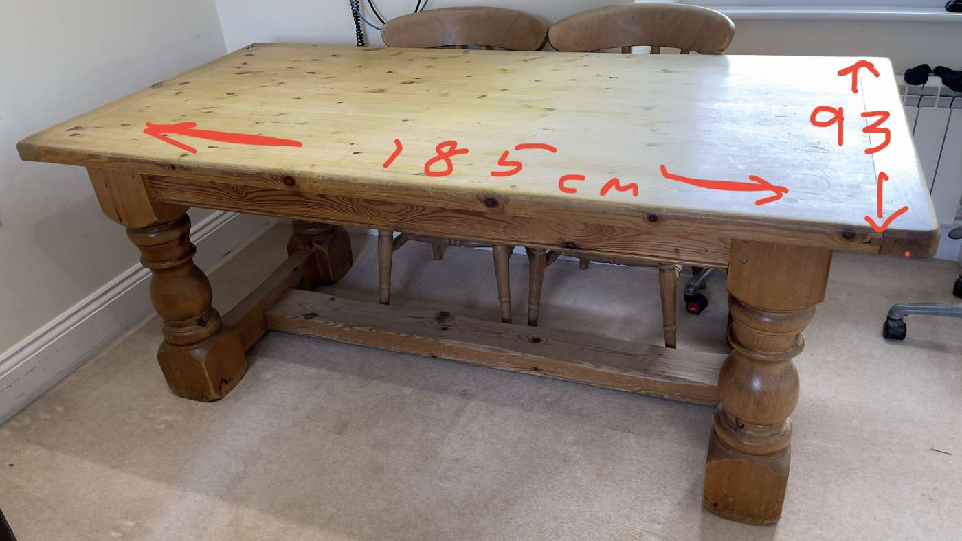 Farmhouse solid Pine table