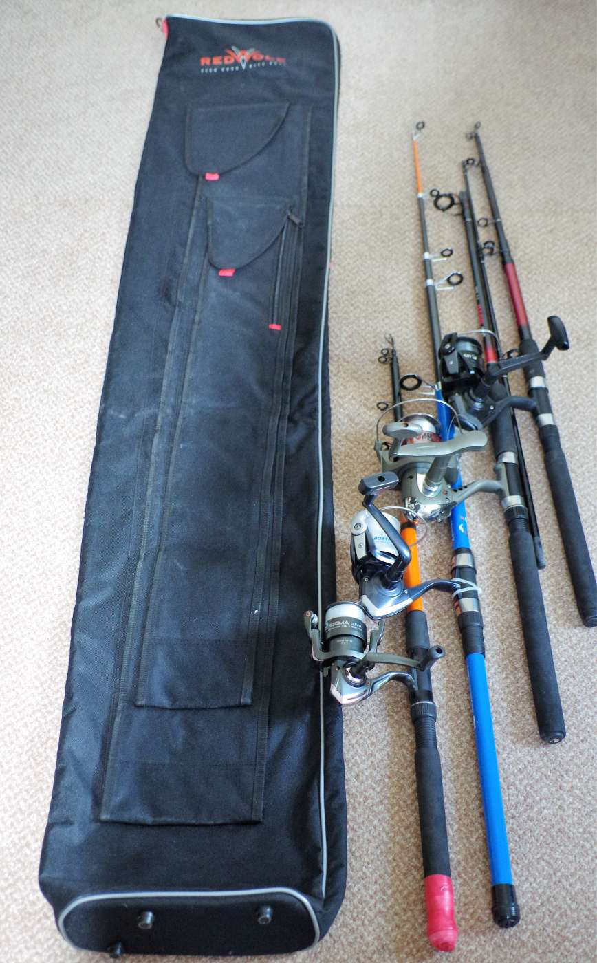 Fishing Rods - Reels and Bag