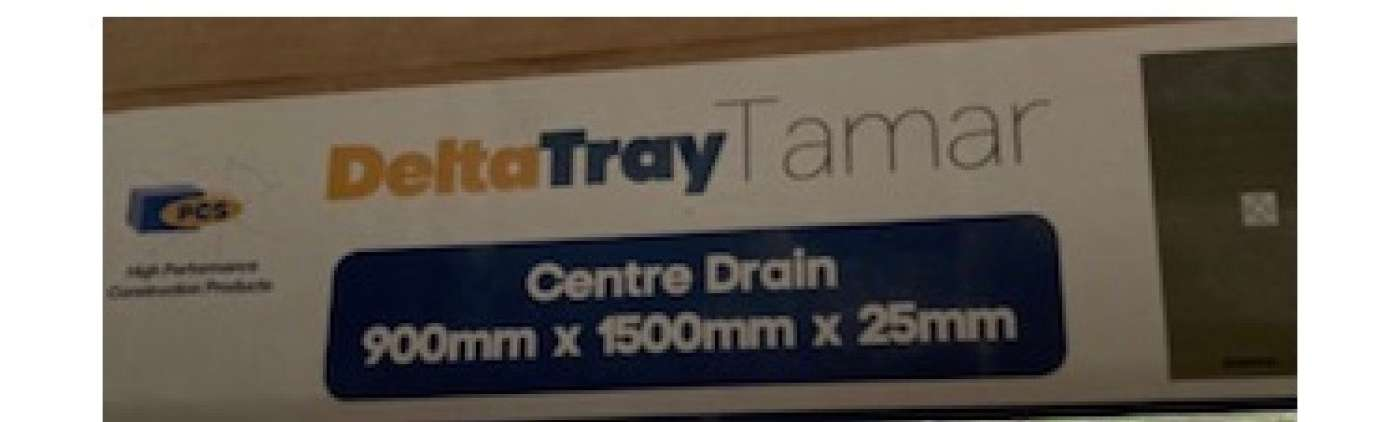 2x Shower tray and 2x drain - new and still in unopened packaging