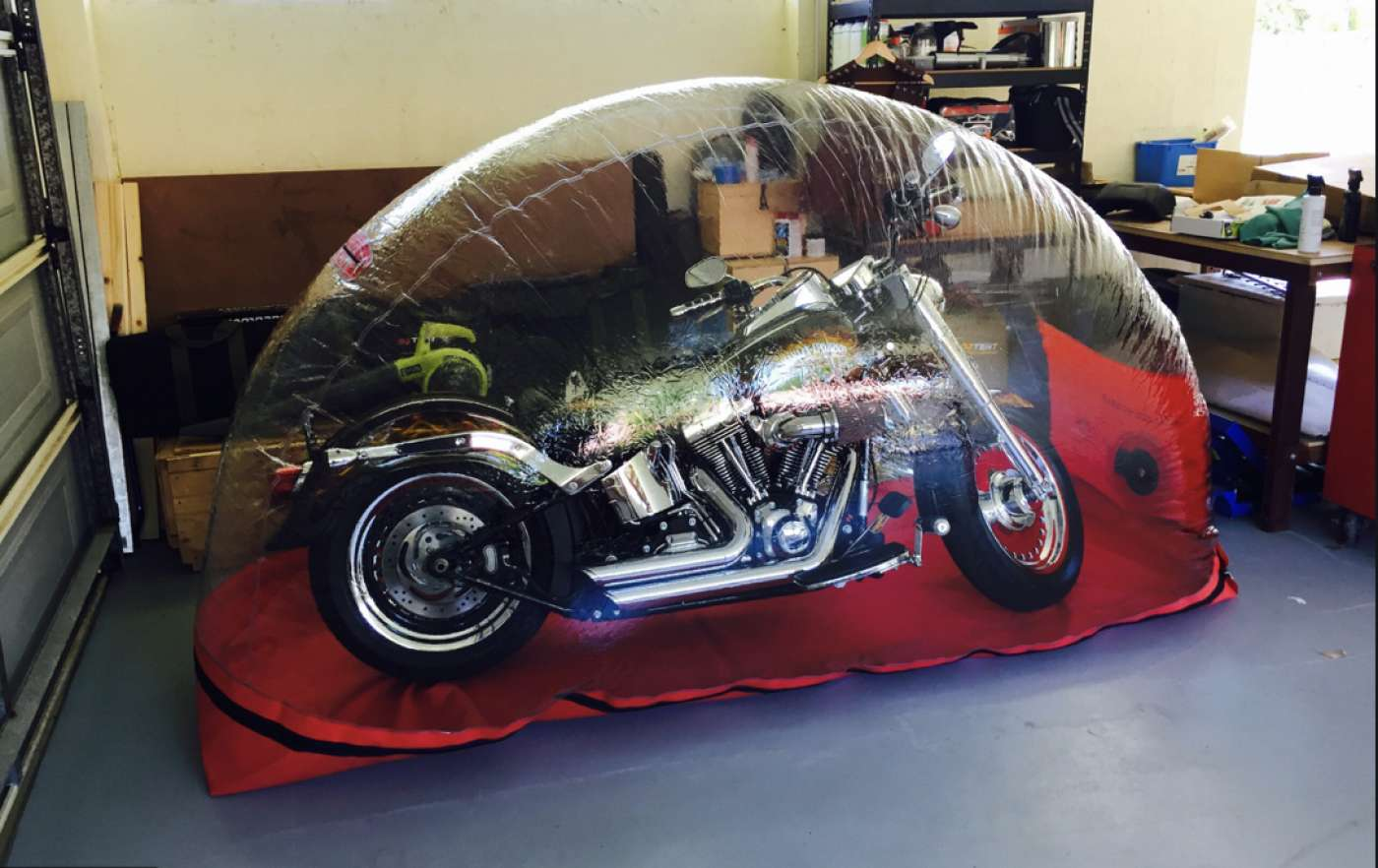 Large Carcoon Indoor Motorbike bubble