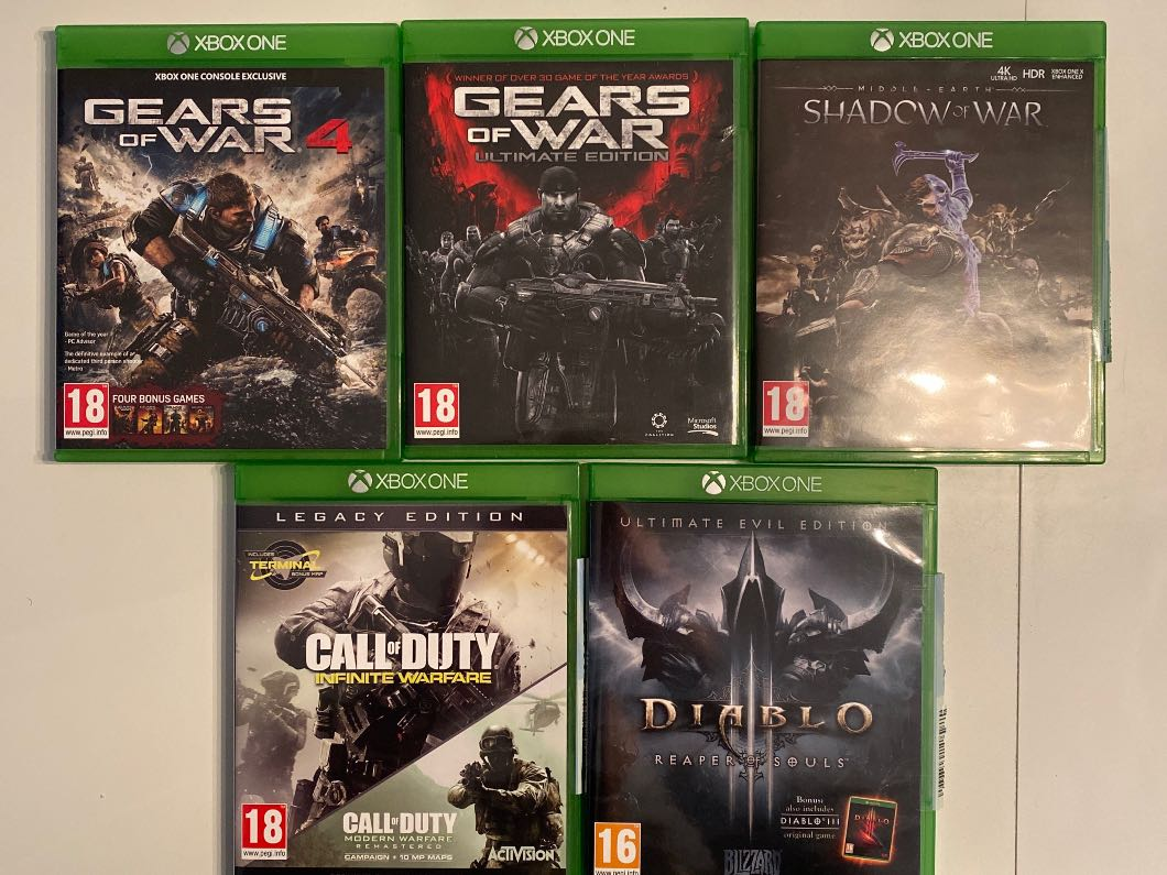 Xbox One games x5