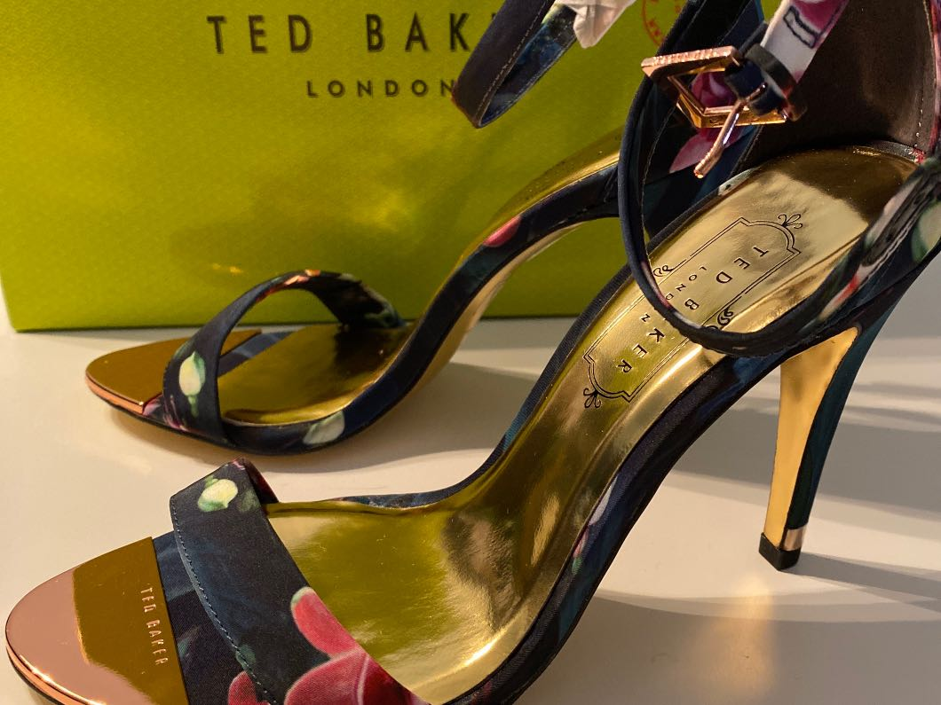 Ted Baker floral heeled shoes size 4