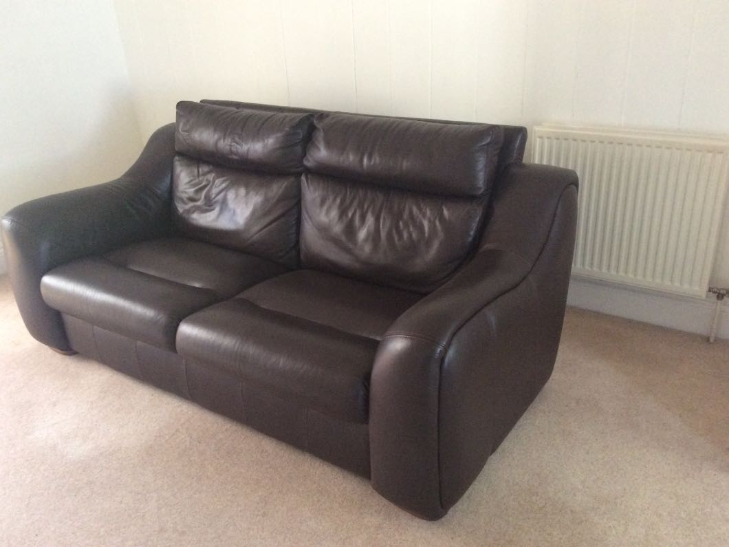 Pair of 3 Seater leather sofa
