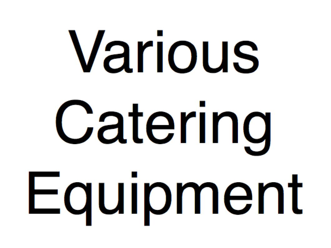 Various Catering Appliances