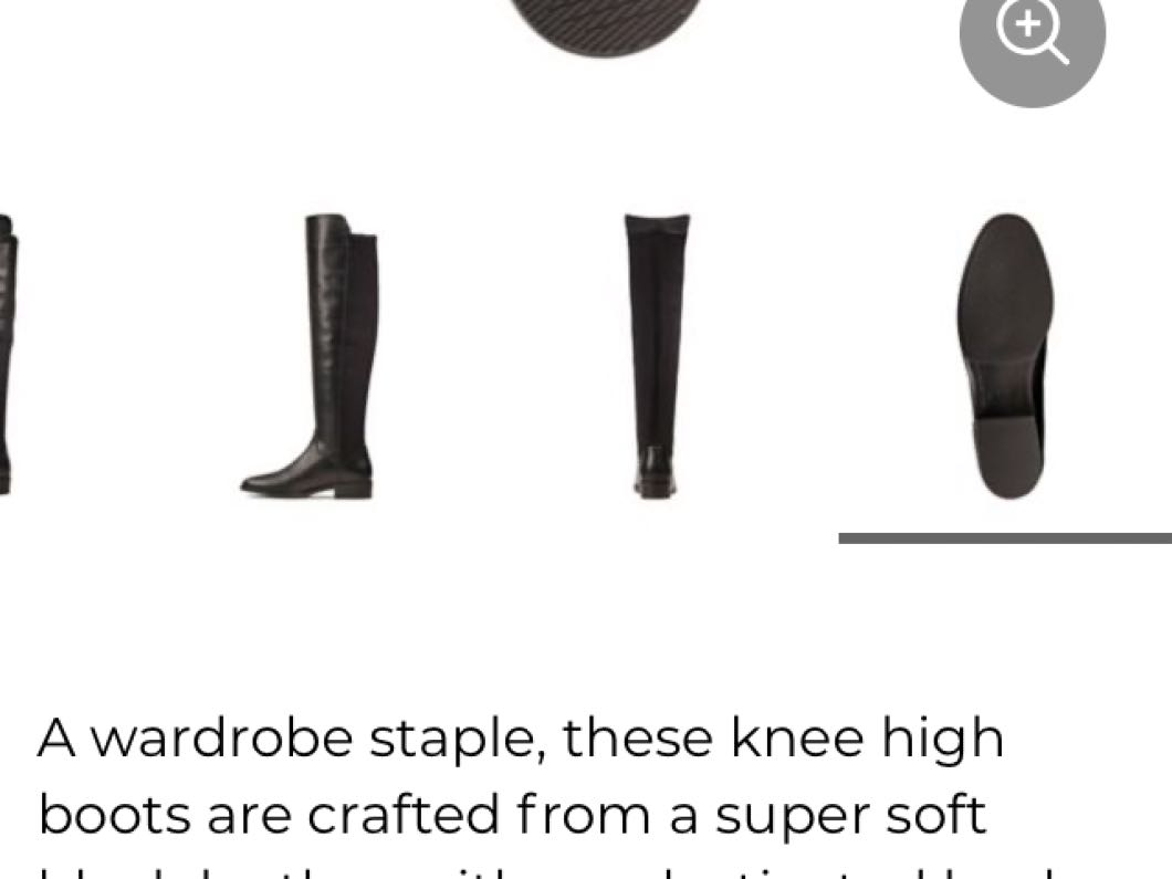 Brand New Clark's Pure Caddy Black Leather Knee High Boots Size UK 6.5