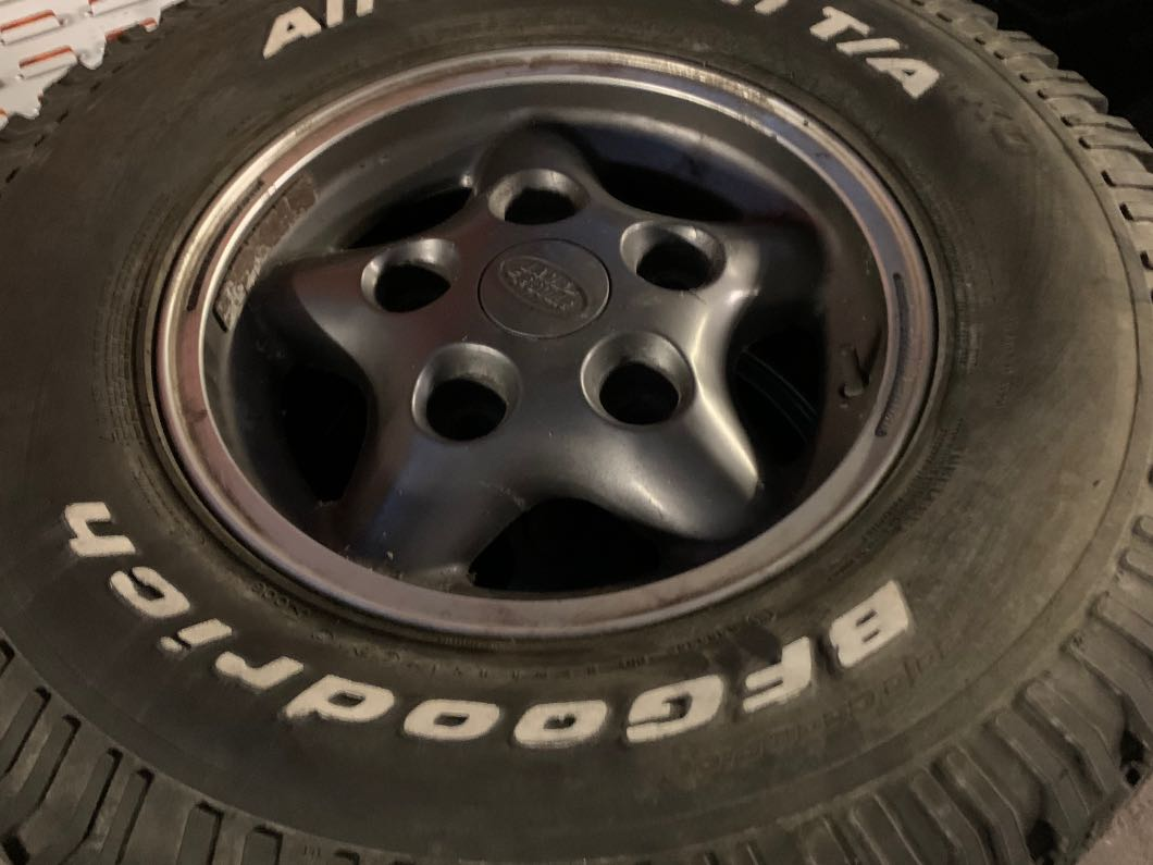 Land Rover Defender Alloys and BFG Tyres