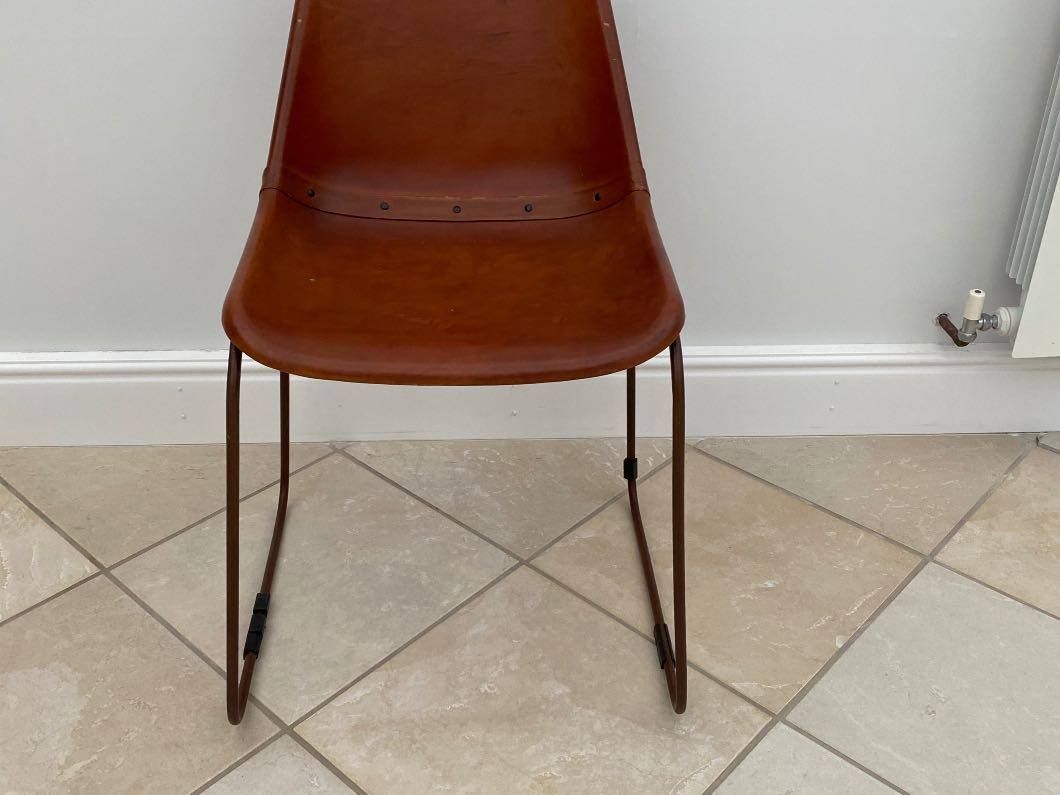 Goat Leather Stylish Dining Chairs