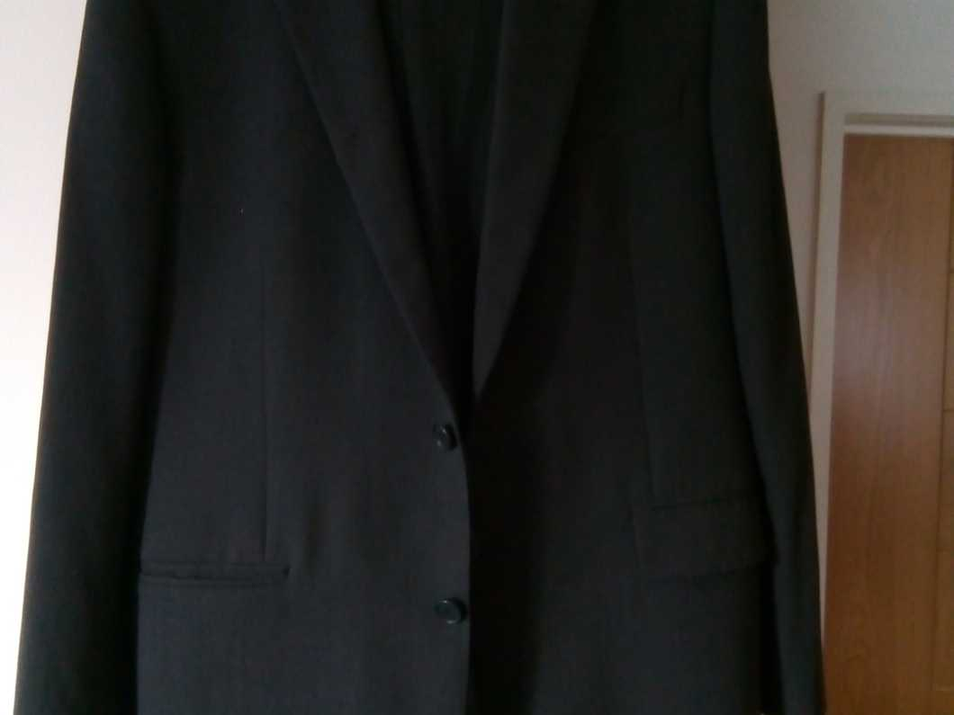 M and S black suit.