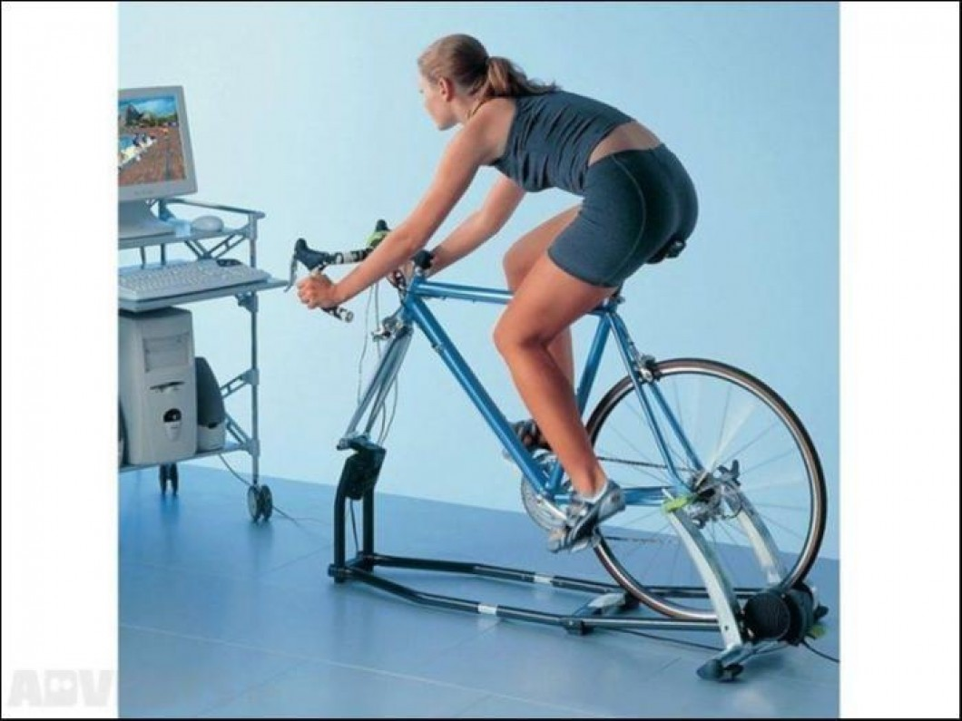 TACX Fortius T1905 indoor training frame, turbo trainer,  and software