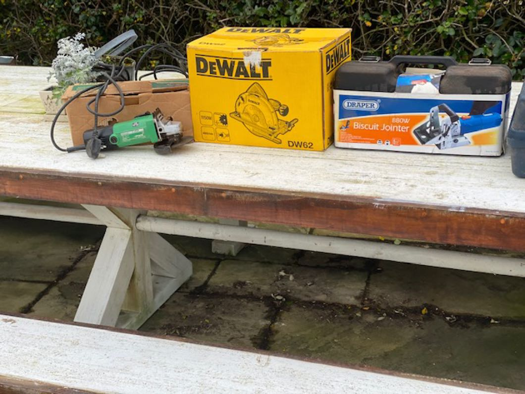 Selection of 240 volt power woodworking tools