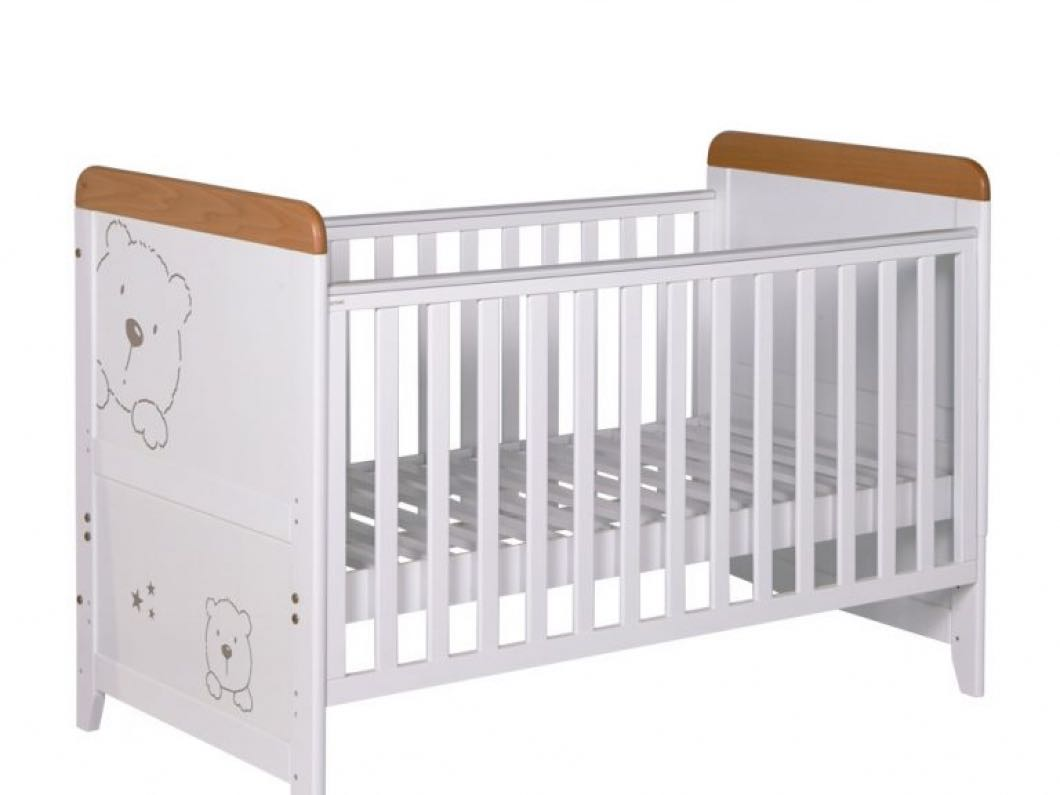 Cot & Changing Table - Solid Wood