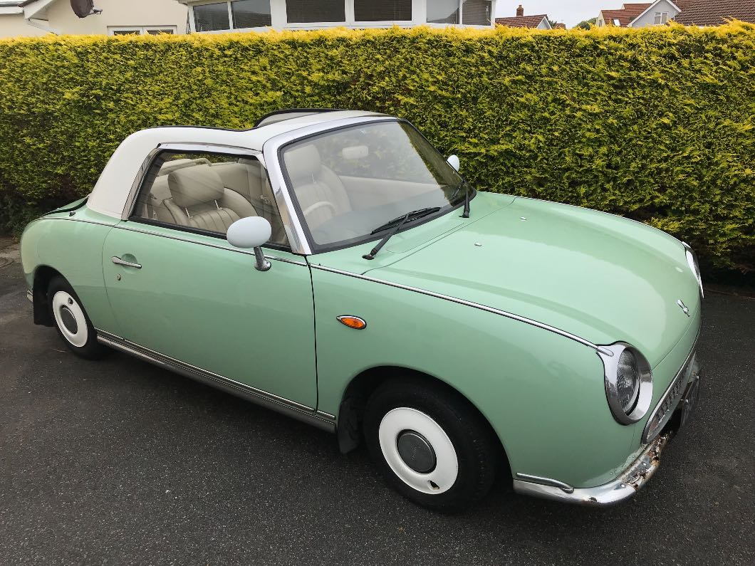 Nissan Figaro 1991 Emerald Green automatic - only 76000miles convertible