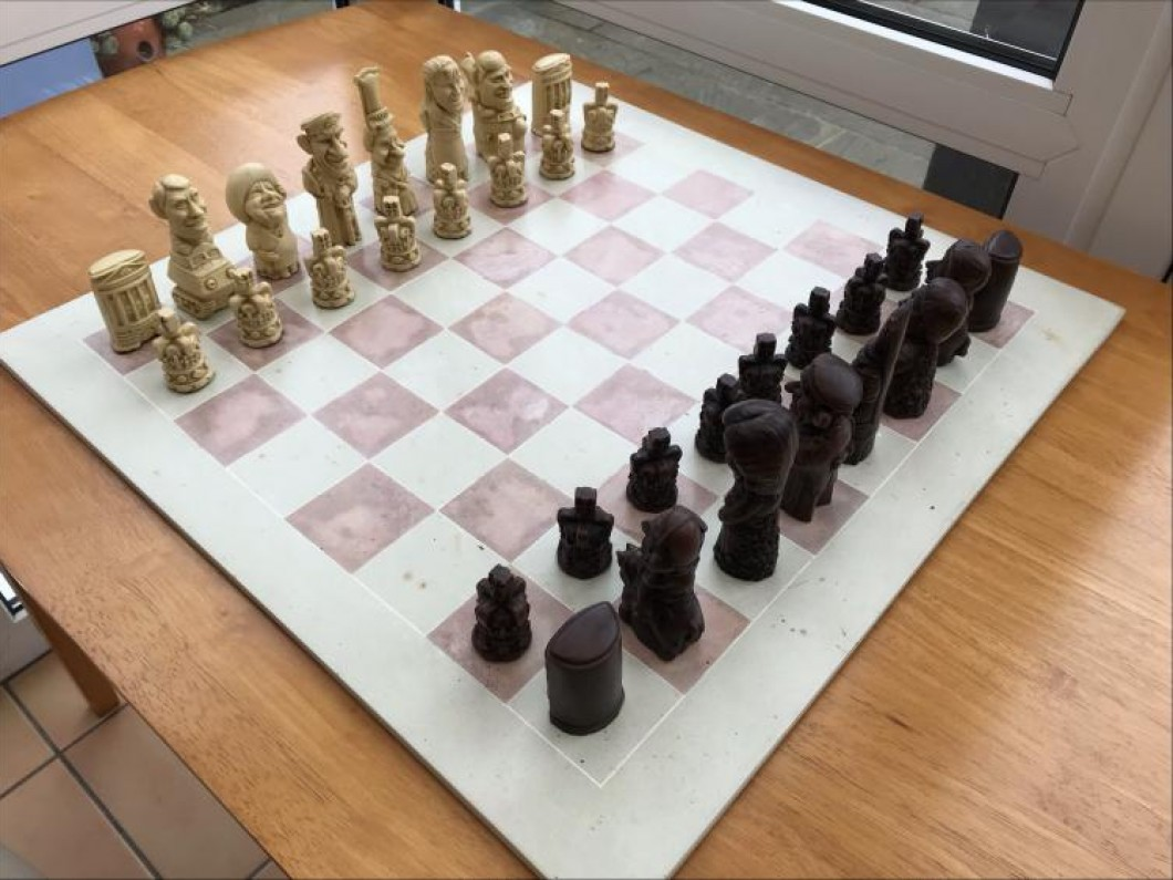 Royal Family caricature Chess Set